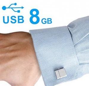 8 GB USB Stick im Manschettenknopf!