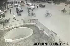 Schlechtester Mopedfahrer in China