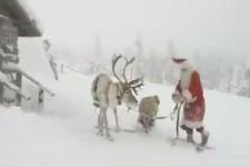 Der Weihnachtsmann bereitet sich vor