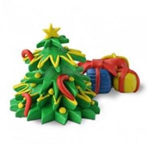 Knete Deinen eigenen Weihnachtsbaum!