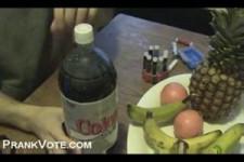 wie man eine Cola-Bombe macht