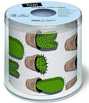 Toilettenpapier mit Kaktus-Motiv!