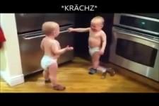 Geschwisterstreit um Socke