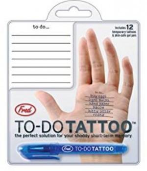 ein Hand To Do Tattoo - Der Merkzettel für die Hand!