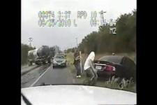 Unfall auf der Landstraße