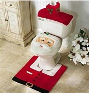 Schöne Weihnachtsdekoration für die Toilette!