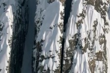 verrückte Skiabfahrt