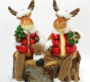 Drolliger Weihnachts-Elch als Kantensitzer!