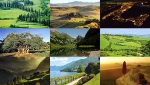 Italien - bunte Landschaft