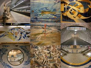 Lissabon - Metrostationen