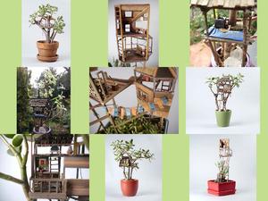 Baumhaus für Zimmerpflanzen