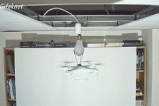 Birne wechseln mit Drohne