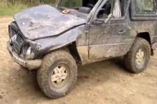 Geländewagen geschrottet