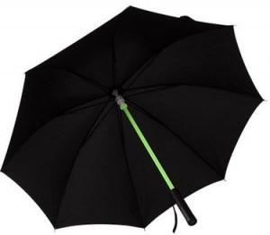 Leuchtender LED Regenschirm im Lichtschwert Design!