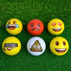 Emoji-Golfbälle!