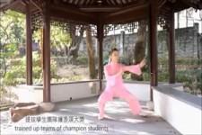 Video mit einer schoenen Frau Tai - Chi