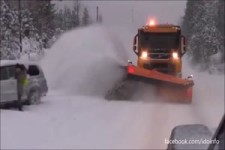 Voll erwischt vom Schnee