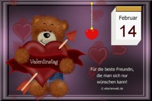Valentinstag an die beste freundin