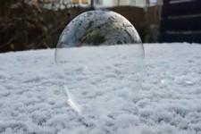 Seifenblase bei Frost