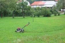 Kraftschonendes Rasenmähen