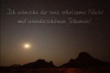 Gute Wünsche zum Abend und zur Nacht