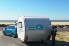 Cooler Wohnwagen