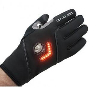 Fahrradhandschuh mit LED Richtungsanzeiger!