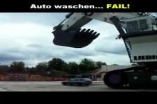 Autowäsche geht schief