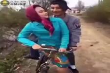 Mouloud auf dem Fahrrad