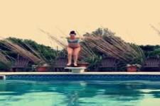 Schneller im Pool als gedacht