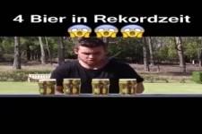 4 Bier in Rekordzeit