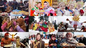 Russischer Feiertag Maslenitsa.Erika