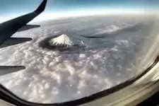 Mount Fuji - vom Flugzeug aus gefilmt