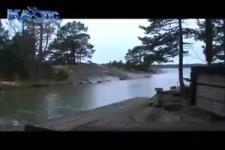 Blitzschlag auf den Fluss