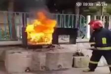 Fireman used coke to extinguish fire11