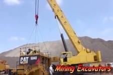 CAT 6040 großer Bagger wird zusammengebaut