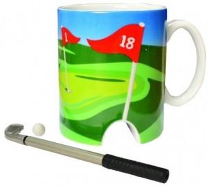 Golftasse und Mini-Putter!