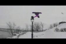 Krasses Snowboarding