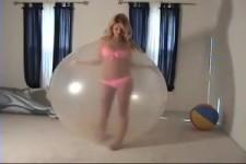 Latex Bondage Girl inside Ballon