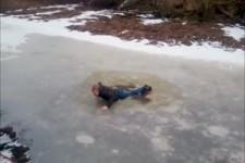 Hoppalas auf dem Eis