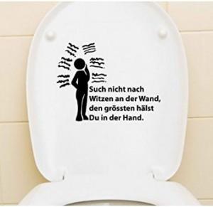 Lustiger WC-Deckel-Aufkleber!