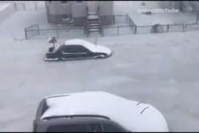 Massachusetts-USA - Überflutete Straßen,...
