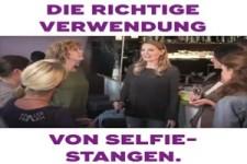 Die richtige Verwendung von Selfie-Stangen
