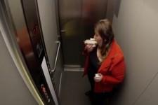 Komischer Fahrstuhl
