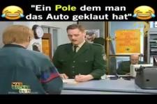 Ein Pole dem man das Auto geklaut hat