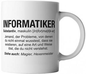 Lustige Tasse für Informatiker!