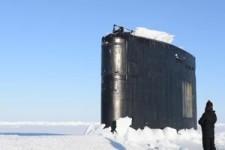 U-Boot im arktischen Eis