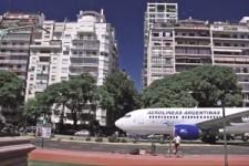 Verrückte Flugzeuglandung