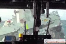 Helicopterlandung bei wilder See