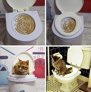 Toiletten-Trainingsset für Katzen!